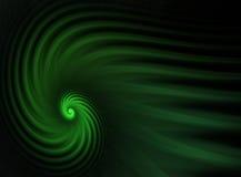 grön spiral för fractal Royaltyfri Bild