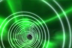 Grön spiral med ljust ljus Royaltyfri Bild