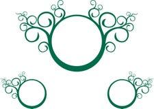 grön spiral vine stock illustrationer