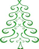 grön spruce tree Arkivbilder