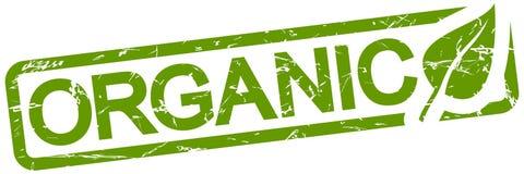 grön stämpel med organisk text stock illustrationer