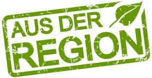grön stämpel med text från regionen royaltyfri illustrationer