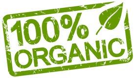 grön stämpel med text organisk 100% vektor illustrationer