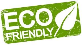 grön stämpel med vänskapsmatch för text ECO vektor illustrationer