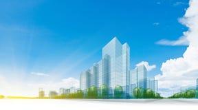 Grön stad arkivfoton