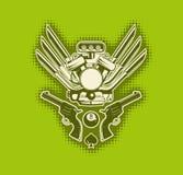 grön stilfull vektorwallpaper Arkivfoton