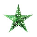 grön stjärna isolerat Arkivbilder