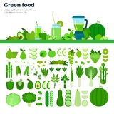 Grön sund mat på tabellen Royaltyfria Bilder
