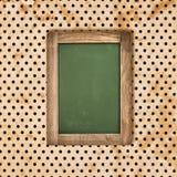 Grön svart tavla för antikvitet över tappningprickbakgrund Arkivbild