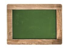 Grön svart tavla för tappning som isoleras på vit Arkivbild