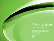 grön swoosh för bakgrund Fotografering för Bildbyråer