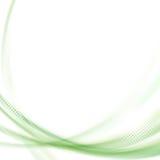 Grön swooshlinje bakgrund för satäng Fotografering för Bildbyråer