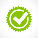 Grön symbol för fästingfläckvektor vektor illustrationer