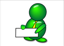grön symbolsbudbärare för bubbla Fotografering för Bildbyråer