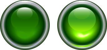 grön symbolslampa royaltyfri illustrationer