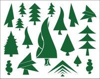 grön symbolstree för jul vektor illustrationer