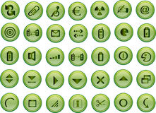 grön symbolsvektor Royaltyfri Fotografi