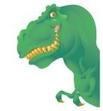 Grön T-rexbyst Arkivbild