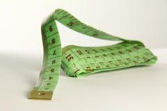 Grön tapemeasure Fotografering för Bildbyråer