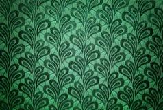 Grön tappningtygtextur Arkivfoton
