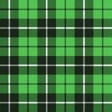 Grön tartantygtextur i en sömlös fyrkantig modell royaltyfri illustrationer