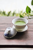 Grön tea Arkivbild