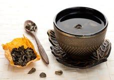 Grön tea. Asiatiskt begrepp Royaltyfri Foto