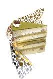 grön tea för cakeefterrätt Arkivfoton