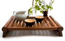 grön tea för ceremoni Arkivfoto