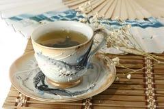 grön tea för kopp Arkivbild