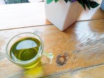 grön tea för kopp arkivfoto