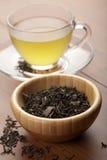 grön tea för kopp Fotografering för Bildbyråer