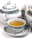 grön tea för porslin royaltyfri foto