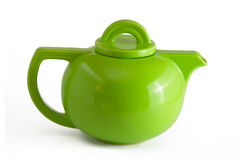 grön teapot Arkivbilder