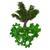 grön tech Royaltyfri Illustrationer