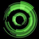Grön techcirkel raster Arkivfoton