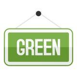 Grön teckenlägenhetsymbol som isoleras på vit Fotografering för Bildbyråer