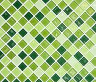 Grön tegelplattavägg Fotografering för Bildbyråer