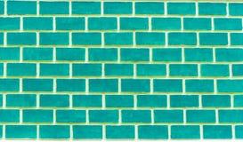 Grön tegelstenvägg Royaltyfri Fotografi
