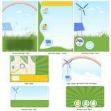 Grön teknologimall vektor illustrationer
