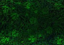 Grön teknologisk texturbakgrundsillustartion royaltyfri illustrationer
