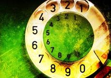grön telefon royaltyfri illustrationer