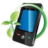grön telefon Royaltyfria Foton