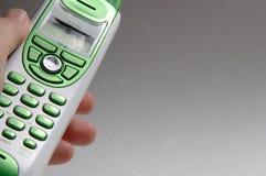 grön telefon Arkivfoto