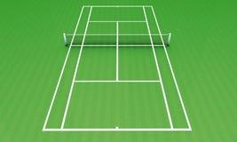 grön tennis för läger Royaltyfria Bilder