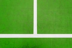 Grön tennisbana Arkivfoton