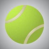 Grön tennisboll för vektor på grå bakgrund Fotografering för Bildbyråer