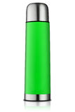 grön termos för flaska Royaltyfri Fotografi