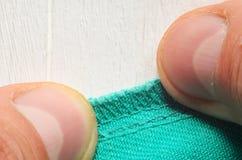 Grön textilletextur Royaltyfria Foton