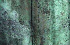 Grön textur av rostig koppar Arkivbilder